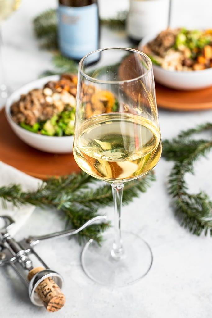 german wine in wine glass