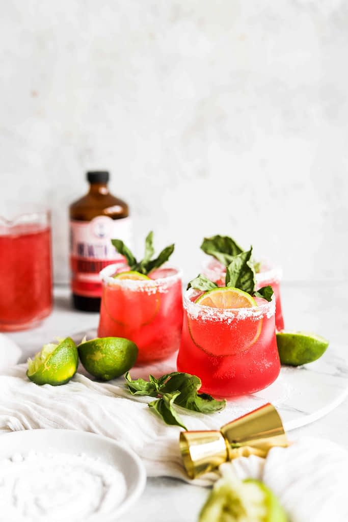 Cherry Berry Lime Kombucha Margarita Recipe