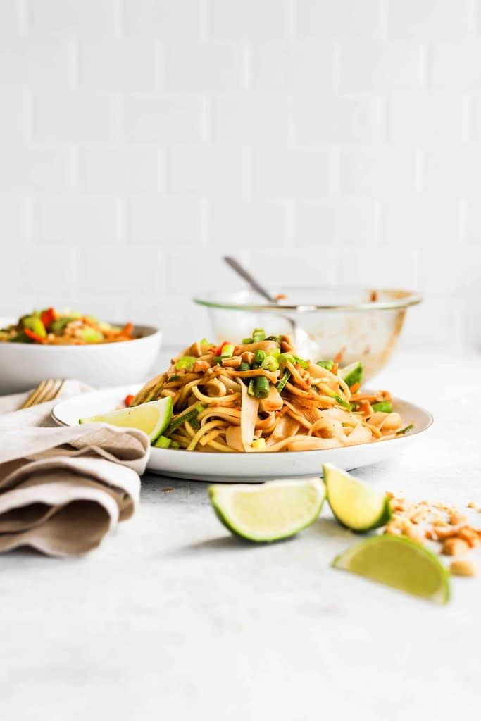 Pad Thai Ingredients and Dish