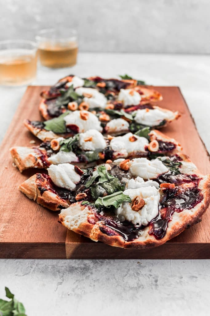 Easy Appetizers: Blackberry Ricotta and Hazelnut Flatbread