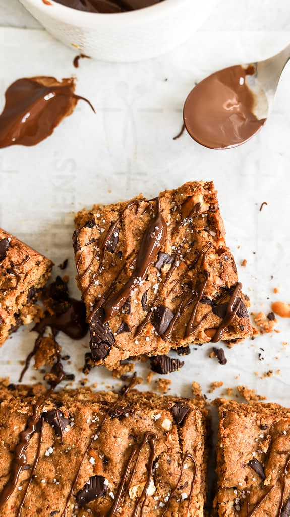 easy cookie bars , shot from above