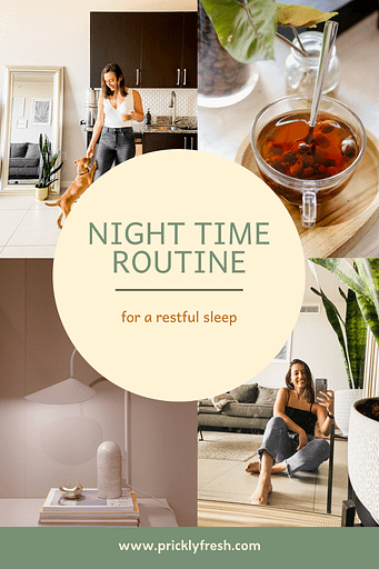 night time routine graphic