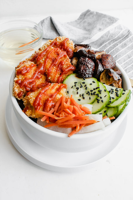 Crispy Chicken Buddha Bowl